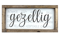 "Gezellig Sign w/Definitions 6.5""x13"""